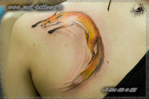 Цветная татуировка для девушек тату