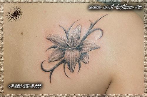 Фото татуировки на лопатке у девушки